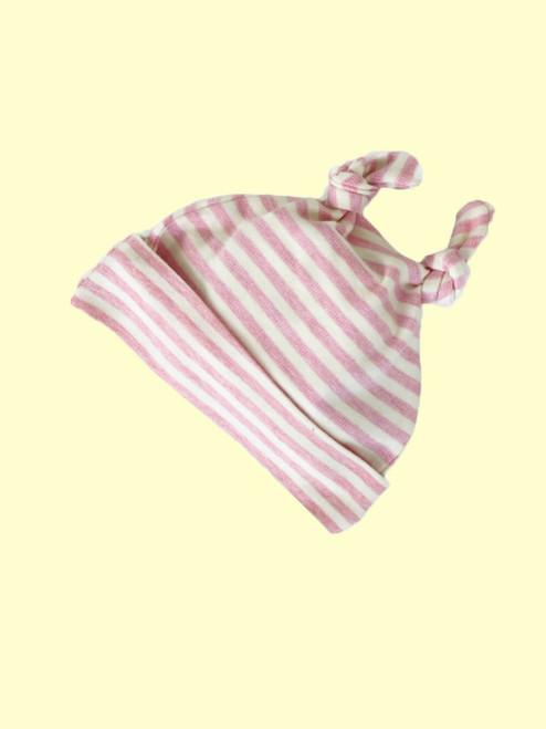 Organic Cotton Striped Pink Baby Cap
