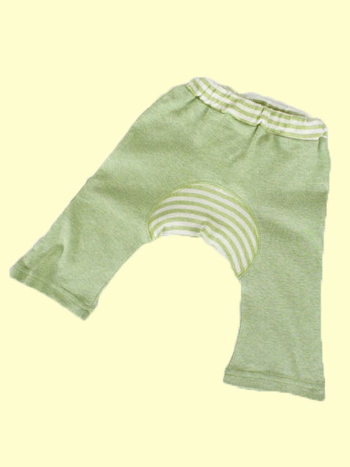 Organic Cotton Sage Baby Monkey Pants - Fair Trade