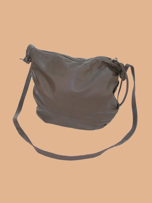Medium Brown Everyday Recycled Leather Handbag