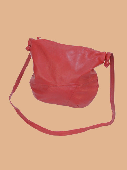 Dark Red Everyday Recycled Leather Handbag