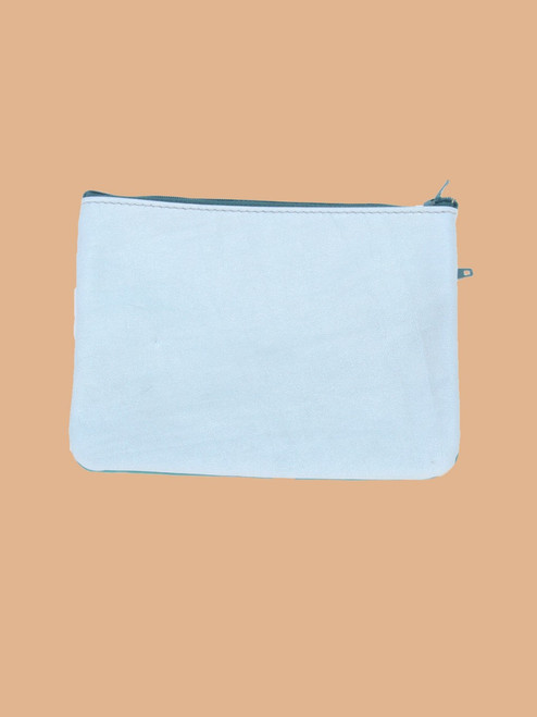 Light Blue/Turquoise Change Purse - Recycled Leather