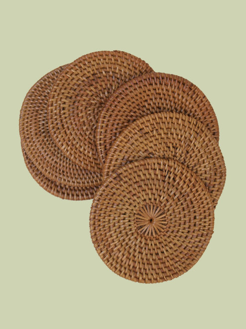 Atta Grass Coasters . Set of 6 - Fair Trade