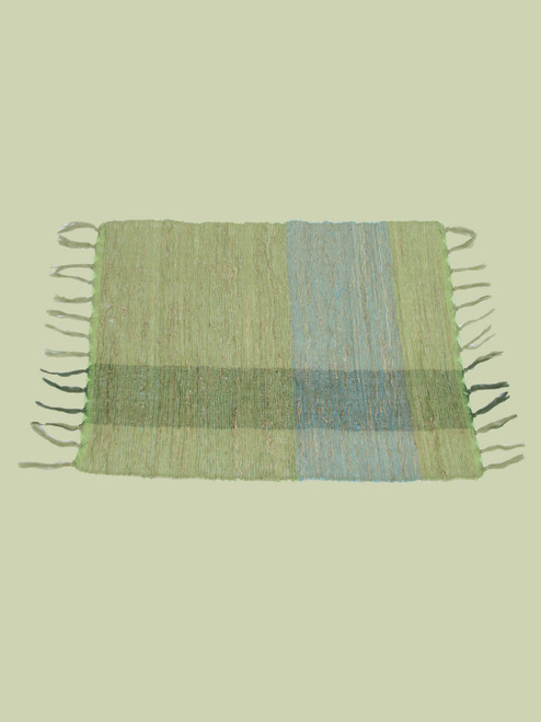 Green Blocks Vetiver Placemat - Set of 6