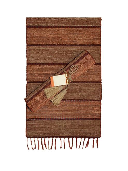Brick Stripe Vetiver Table Runner - Fair Trade
