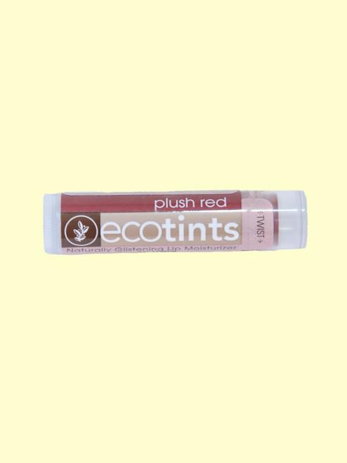 Plush Red Eco-Tints Lip Balm -Certified Organic Ingredients