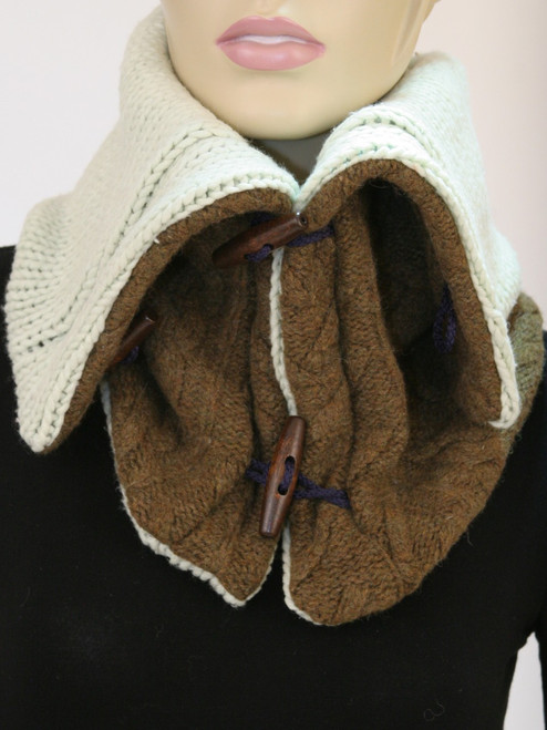 Aspen Snood Scarf  Coffee Shop - Recycled Material