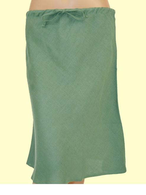 Short Bias Sage Skirt - 100% Hemp