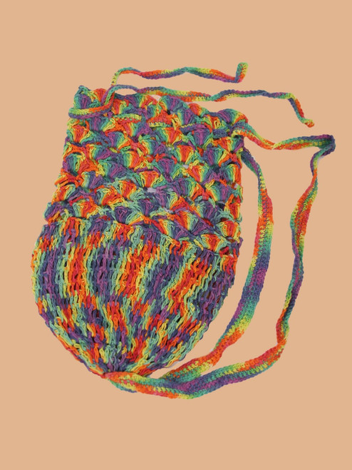 Rainbow Crocheted Bag - Hemp