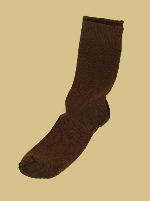 Men's Chocolate Crew Paired Socks - Recycled Cotton