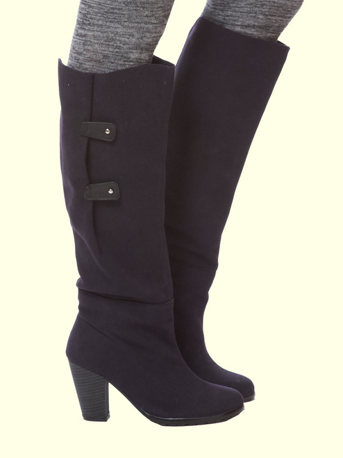 Isabel Recycled Vegan Ultrasuede Wrap Boot - Black