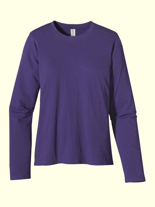 Women's Classic Long Sleeve Washed Tee - Certified Organic Cotton