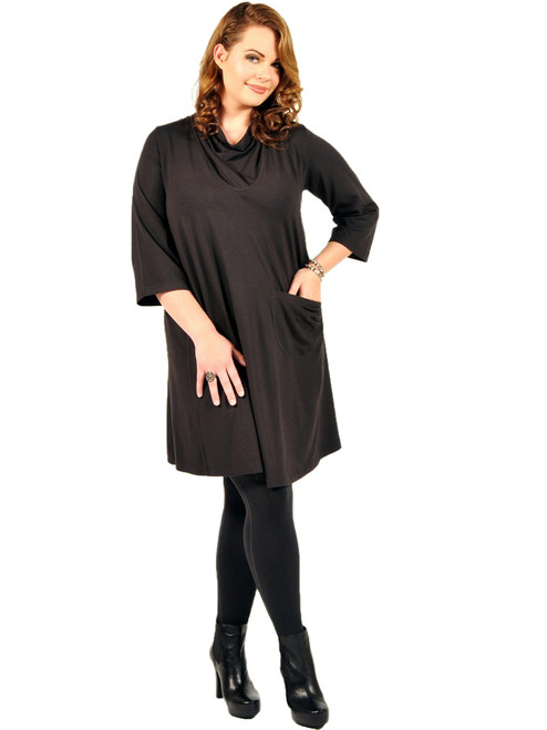 Women's Plus Size I Want It Longer Carbon Tunic Dress - Bamboo Viscose