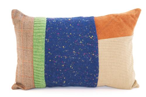 Midnight Hugs Pillow - Recycled Vintage Fabrics