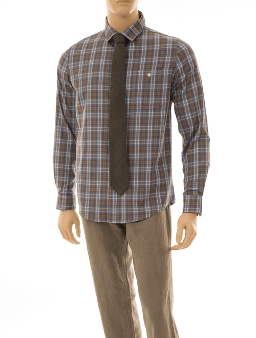Men's Plaid Long Sleeve Shirt - Organic Cotton