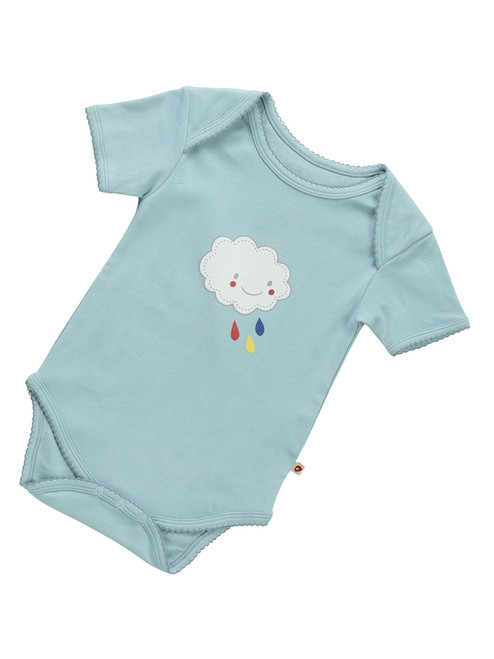 Blue Cloud Onesie . Organic Cotton - Fair Trade