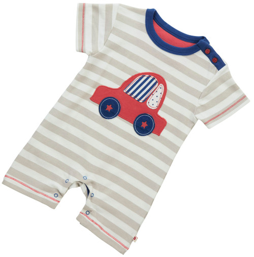 Beep Beep Romper.  Organic Cotton - Fair Trade