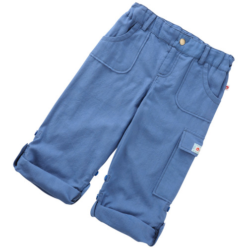 Oxford  Roll-Up Pants . Organic Cotton-Fair Trade