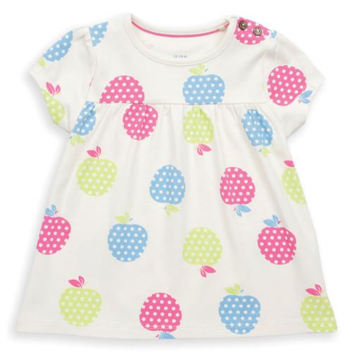 Organic Cotton  Baby Picnic Apples Tunic - Fair Trade
