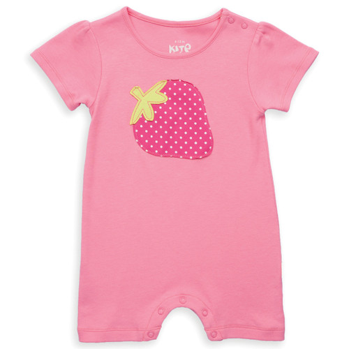 Organic Cotton Strawberry Baby Romper - Fair Trade