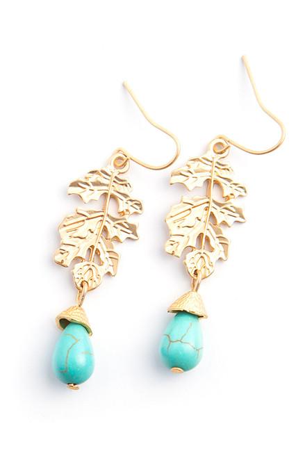 El Matador Earrings . Reclaimed Brass