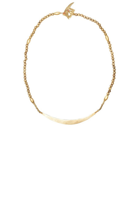 Selasse Crescent Choker - Recycled Brass