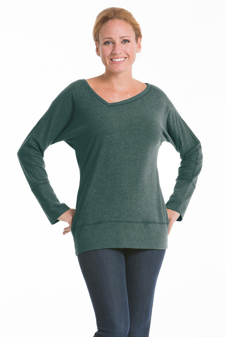 Orchid V Neck Top - Recycled Material Fabric