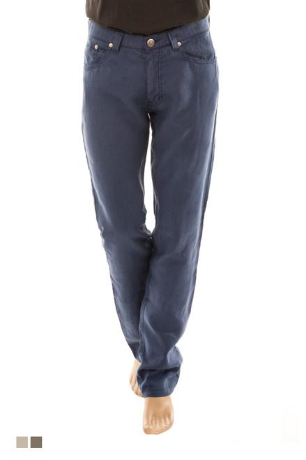 Men's 100% Linen 5 Pocket Pant