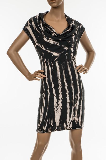Sleeveless Cowl Neck Mini Dress, Potassium Wash