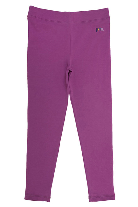 Girl's Organic Cotton Magenta Leggings