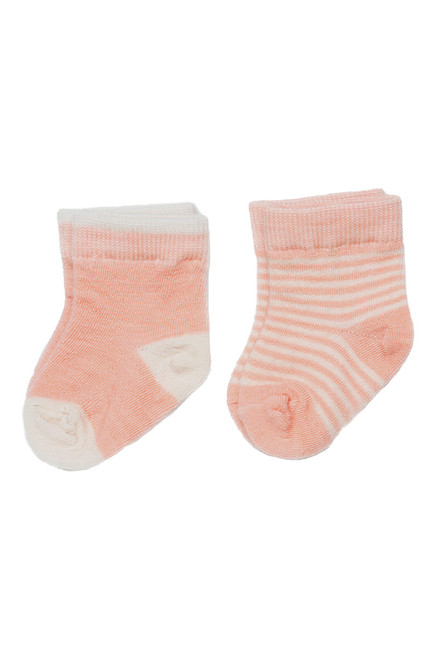 Pink Merino Wool Infant Sock - 2 Pack