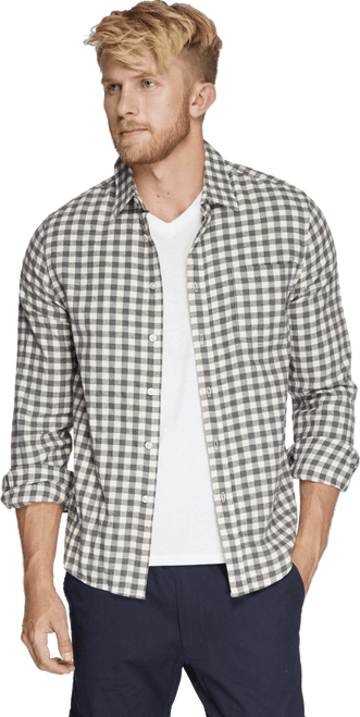 Men's One Pocket Flannel Shirt  - Organic Cotton