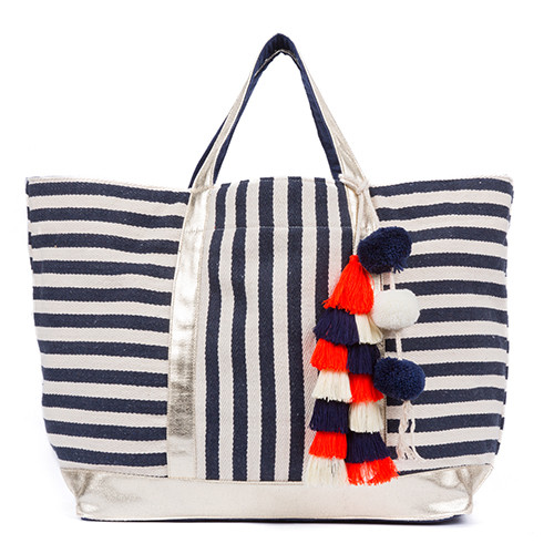 Valerie St Jean Tote with Tassel Pom - Upcycled Materials