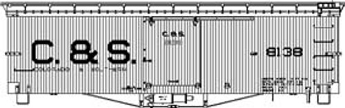 On3 C&S 30' Box Car Block Lettering