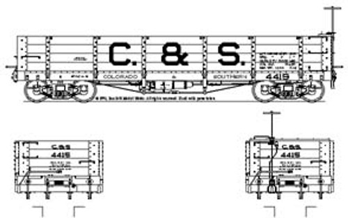 On3 C&S Coal Car Block Lettering