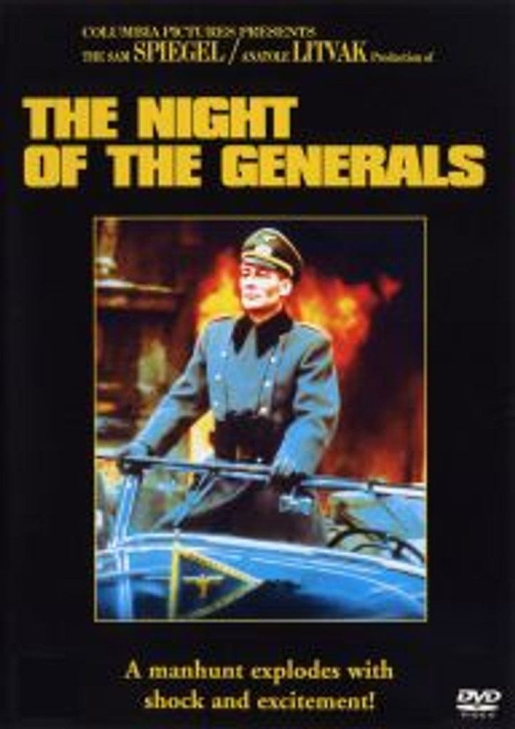 The Night of the Generals Dvd Free Shipping