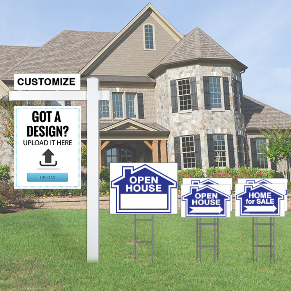 For sale by owner sign kit and sign post bring curb for Design your own house sign