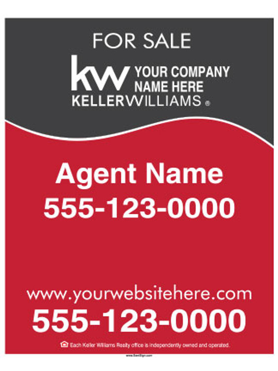 Keller Williams - Hanging Sign – 30″T X 24″W