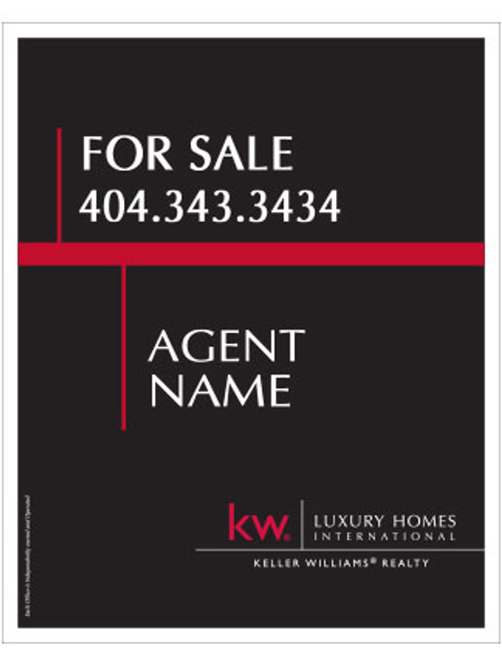 Keller Williams Hanging Yard Sign – Luxury – 30T X 24W