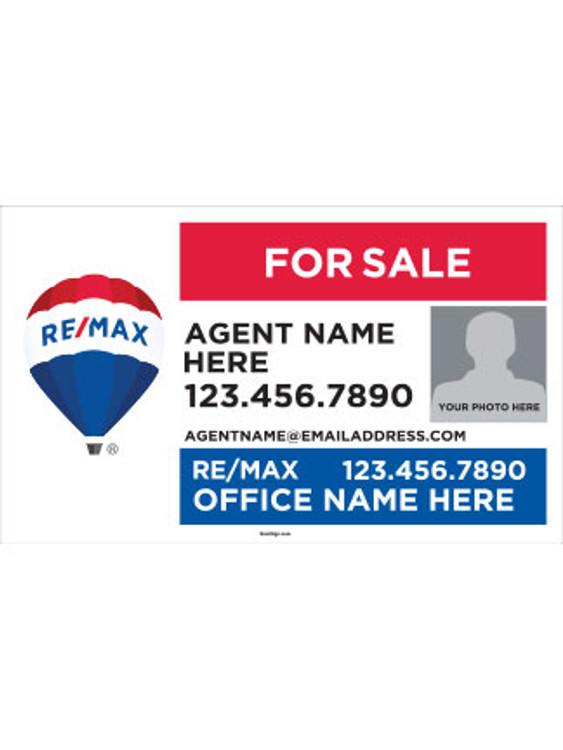 RE/MAX Yard Sign with Agent Photo – 18T X 30W