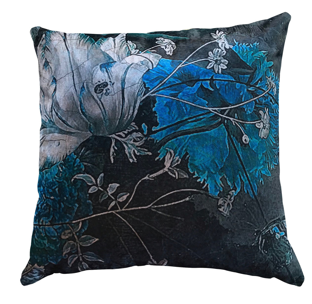 Cushion - Still Life with Tulips - Blue