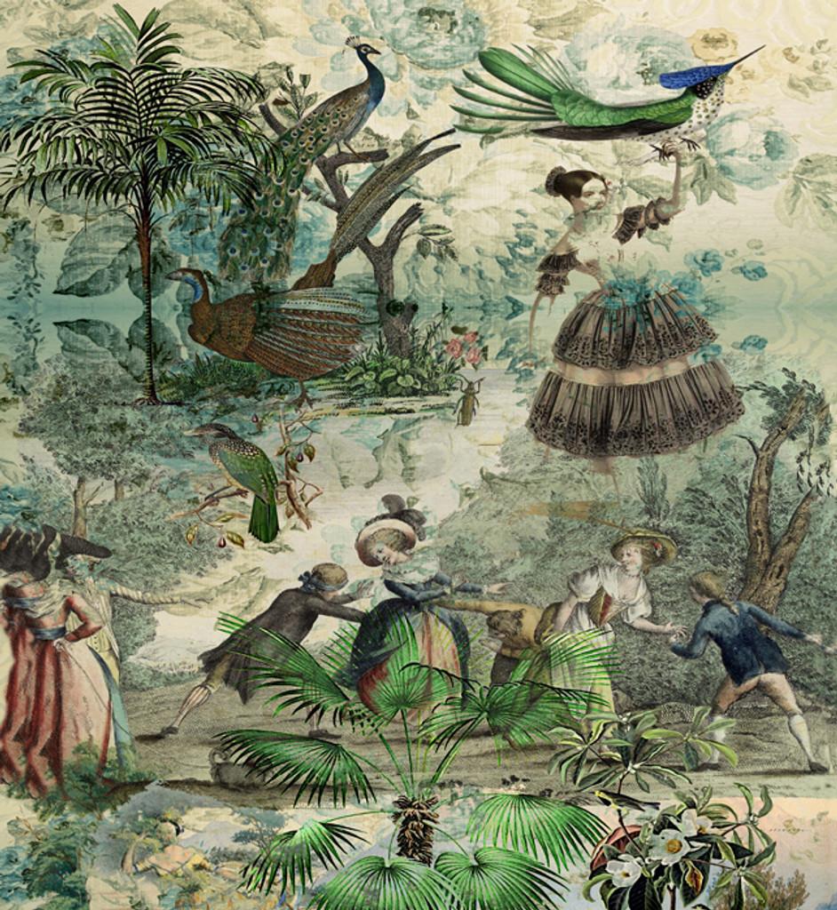 Wallpaper - Vintage Peacock