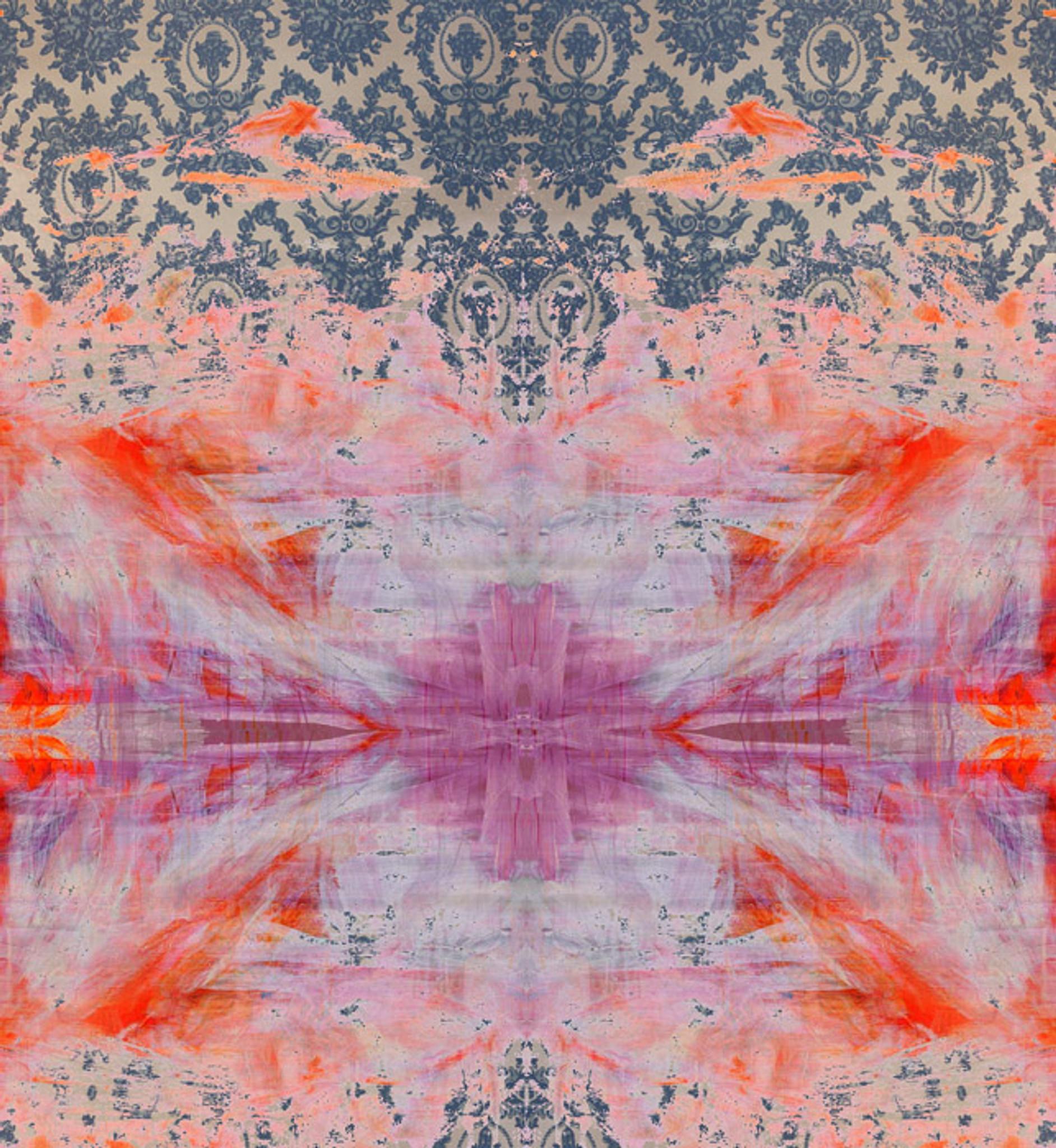 Fabric -  Damask in Distress - Tie Dye