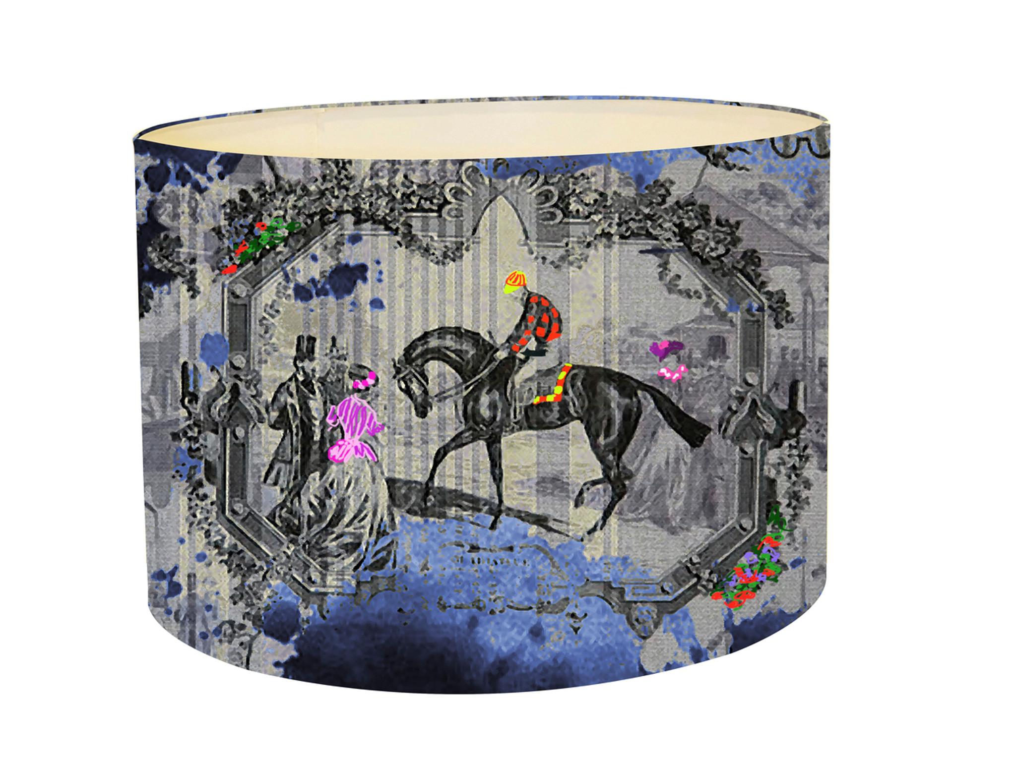 Lampshade - Ink Blot- Horse