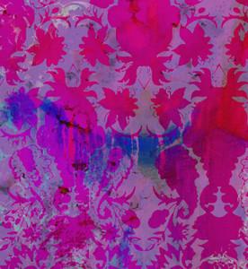 Wallpaper - Colour Crash Magenta Damask