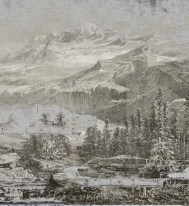 Wallpaper - Misty Mountains - Black and White