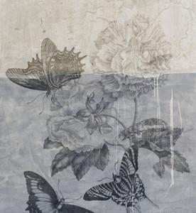 Wallpaper - Botanical Graffiti - Blue Butterfly Day