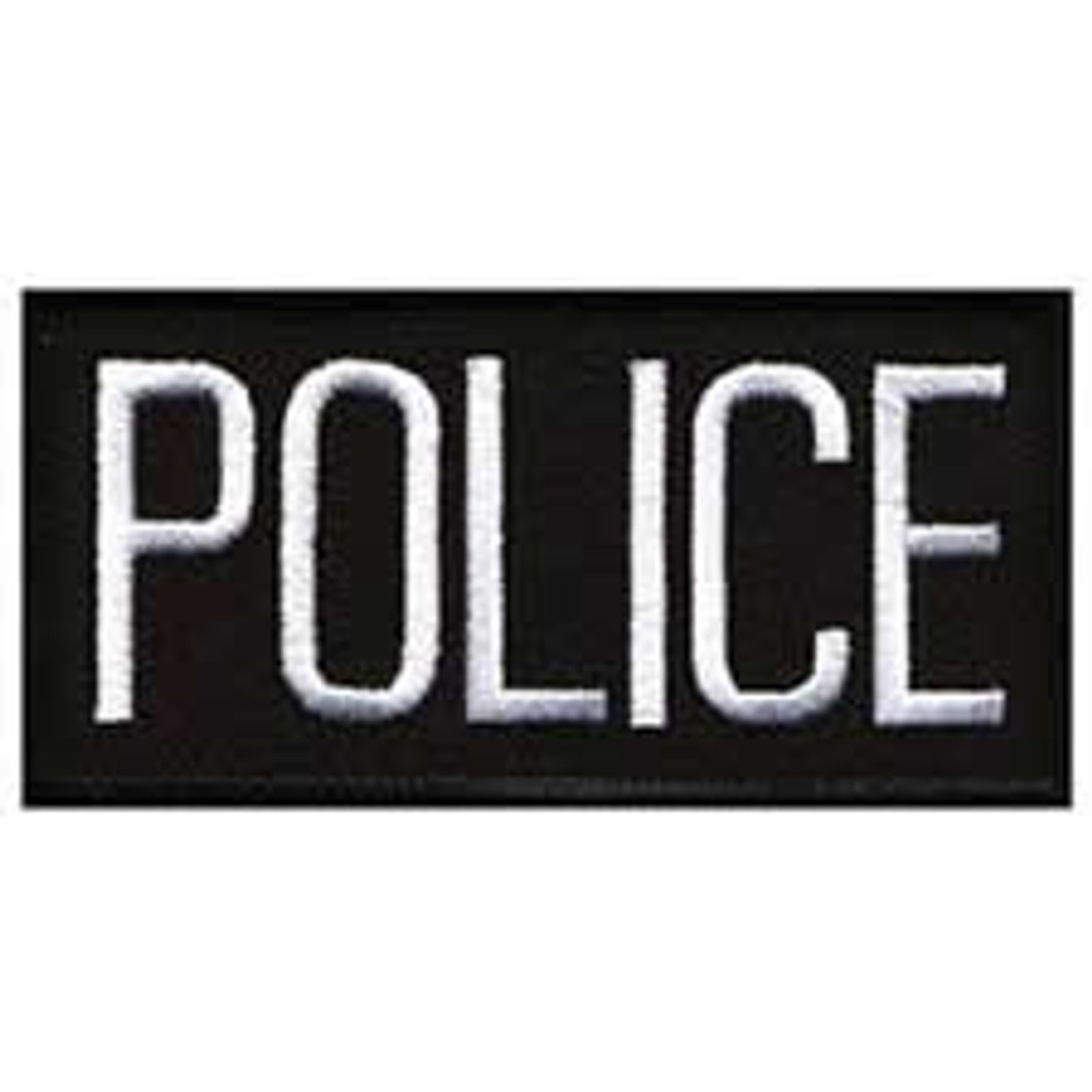 Police Front Patch 4x2""