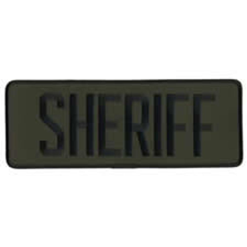 "Sheriff Back Patch 9x3"""