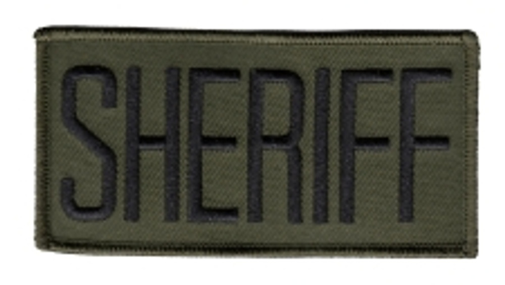 Sheriff Front Patch 4x2""