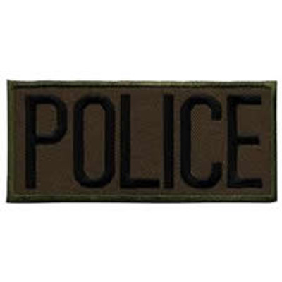 "Police Front Patch 4x2"" RG"
